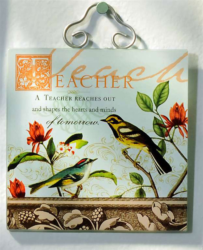 Teacher Bella Glass Wall Tile, by Giftcraft