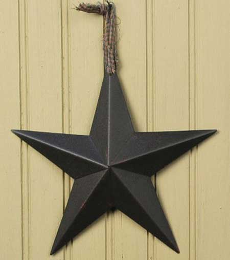 Primitive Wall Star, 5 inch - Assorted Colors