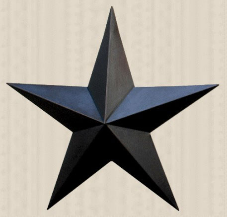 Primitive Wall Star, 24 inch - Black