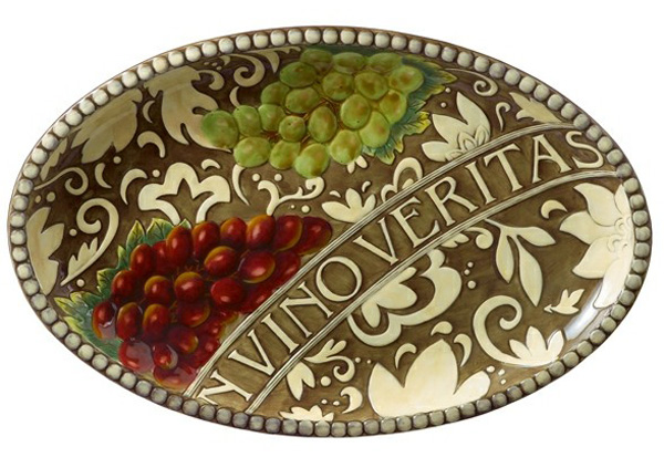 Meritage Veritas Vina Oval Tray, by Grasslands Road