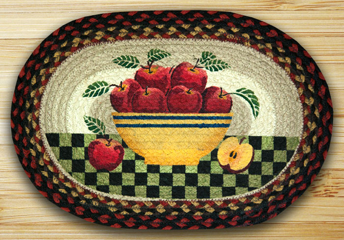 Apple Bowl Braided Placemat, by Capitol Earth Rugs.