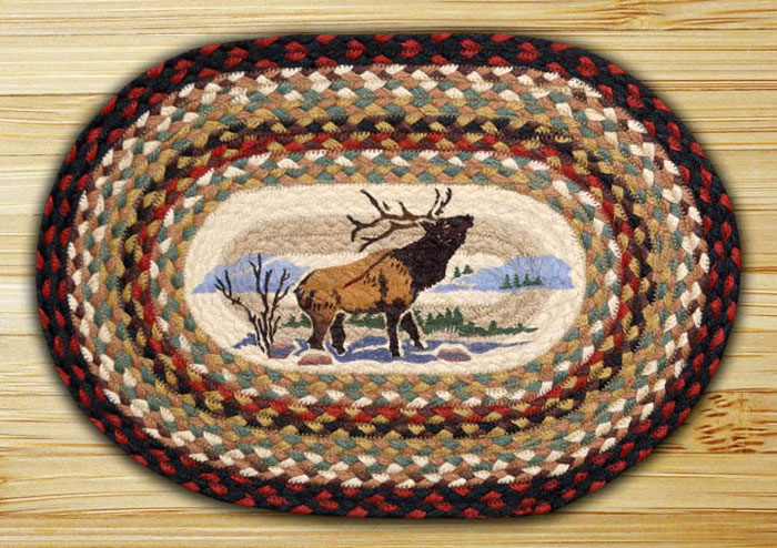 Winter Elk Braided Placemat, by Capitol Earth Rugs.
