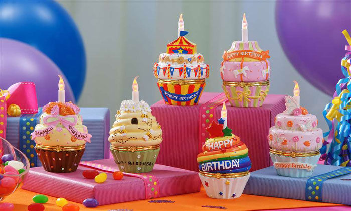 Birthday Wishes Cupcake Trinket Boxes, by Giftcraft