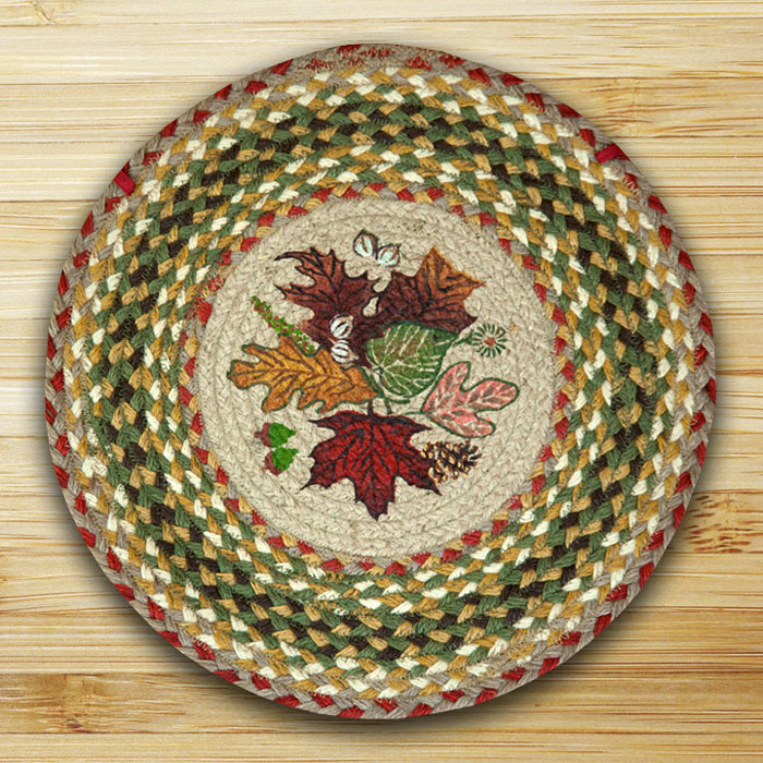 Braided Rug Pad: Autumn Leaves Braided Jute Chair Pad, By Capitol Earth