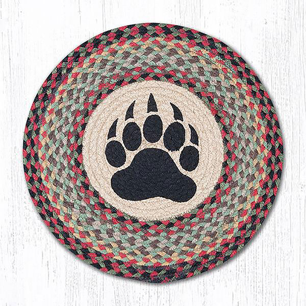 Braided Rug Pad: Bear Paw Braided Chair Pad, By Capitol Earth Rugs