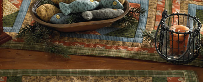 Fish Camp Tablerunner, by Park Designs