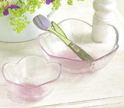 Peony Glass Bowl