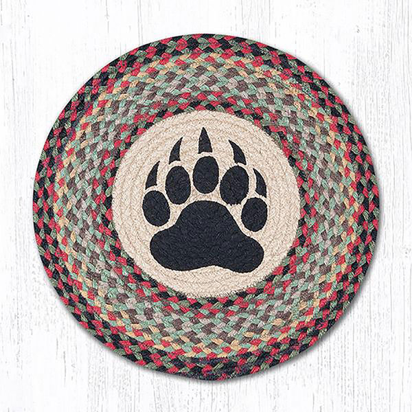 Bear Paw Round Placemat, By Capitol Earth Rugs