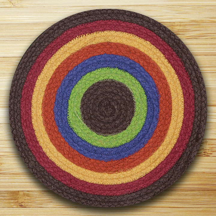 Fiesta Multi Braided Tablemat, by Capitol Earth Rugs