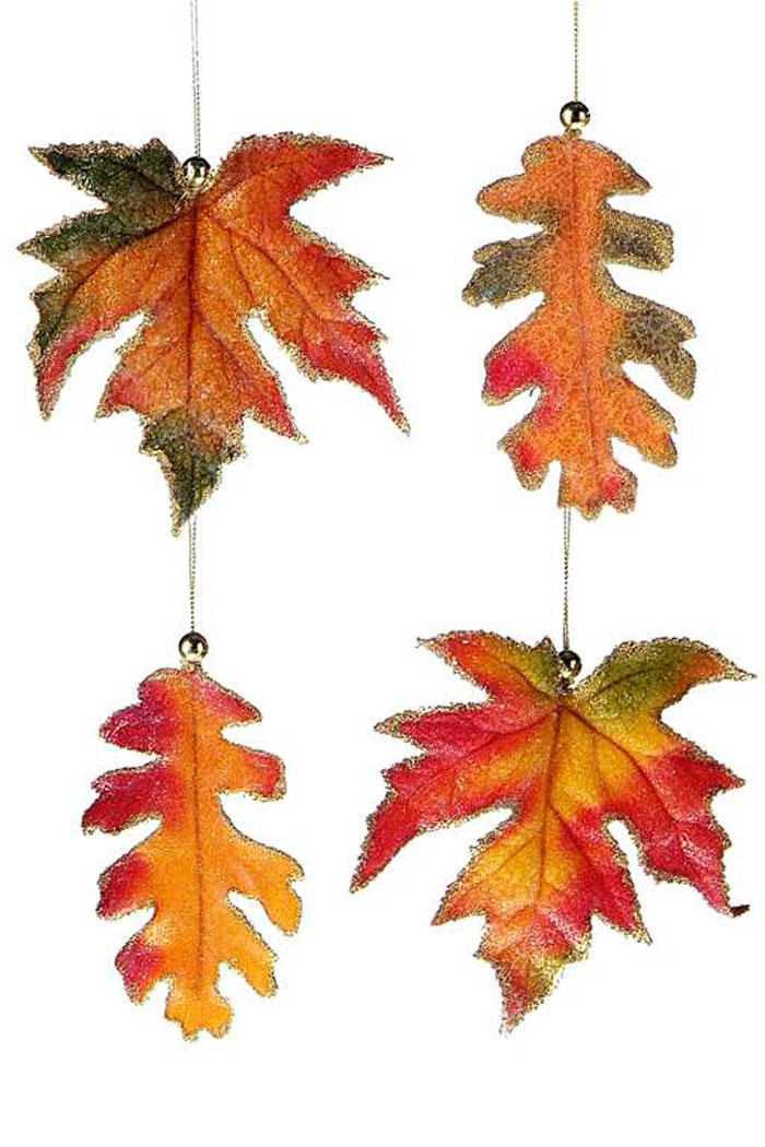 Satin Fall Leaf Ornament, by Giftcraft