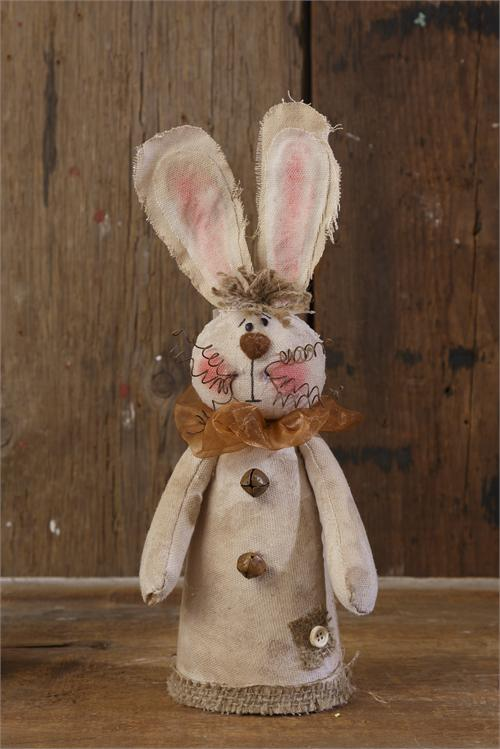 Rustic Bunny With Bells And Burlap The Weed Patch