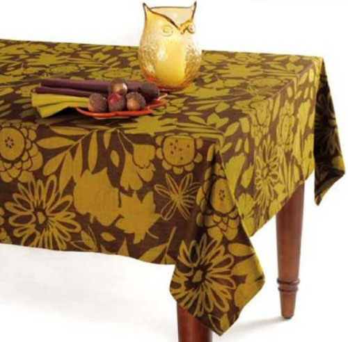 Fall Flora Jacquard Tablecloth