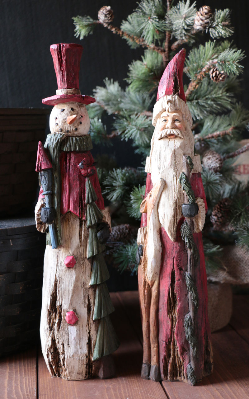 Woodland Santa or Snowman Figurine, by Hanna's Handiworks.