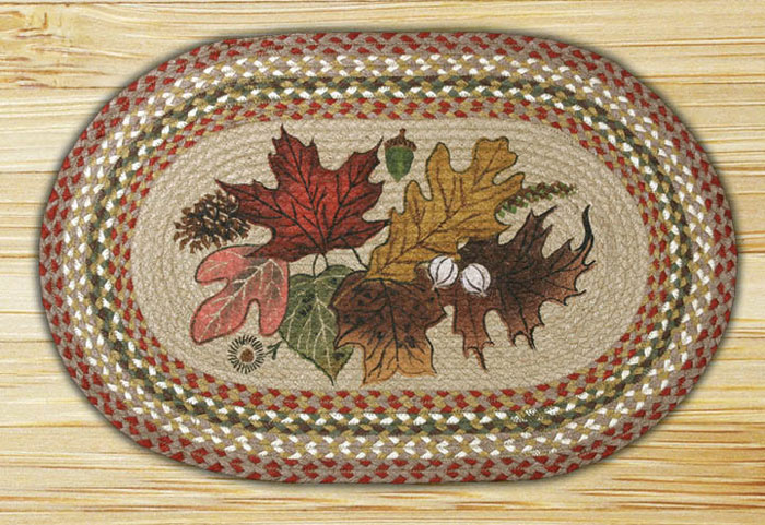 Autumn Leaves Oval Braided Jute Rug By Capitol Earth Rugs