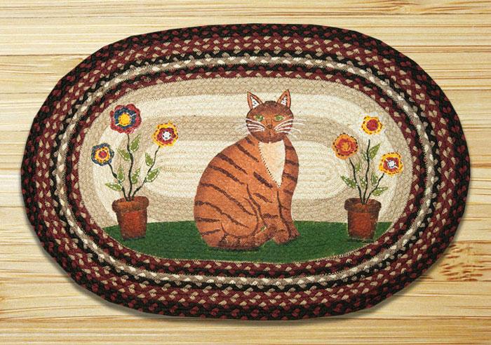 Folk Art Cat Braided Jute Rug By Capitol Earth Rugs The