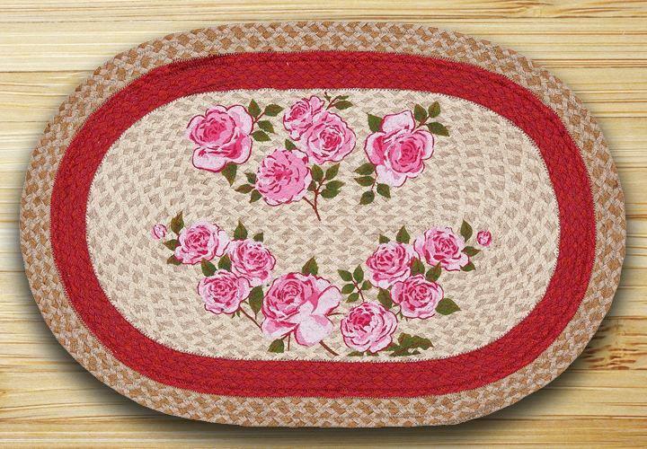 French Rose Oval Patch Rug By Capitol Earth Rugs The