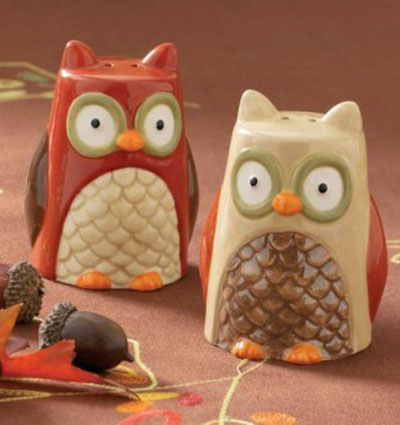 Owl Salt &amp; Pepper Shaker Set, by Tag