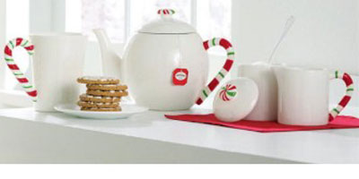 Candy Cane Teapot, by Tag