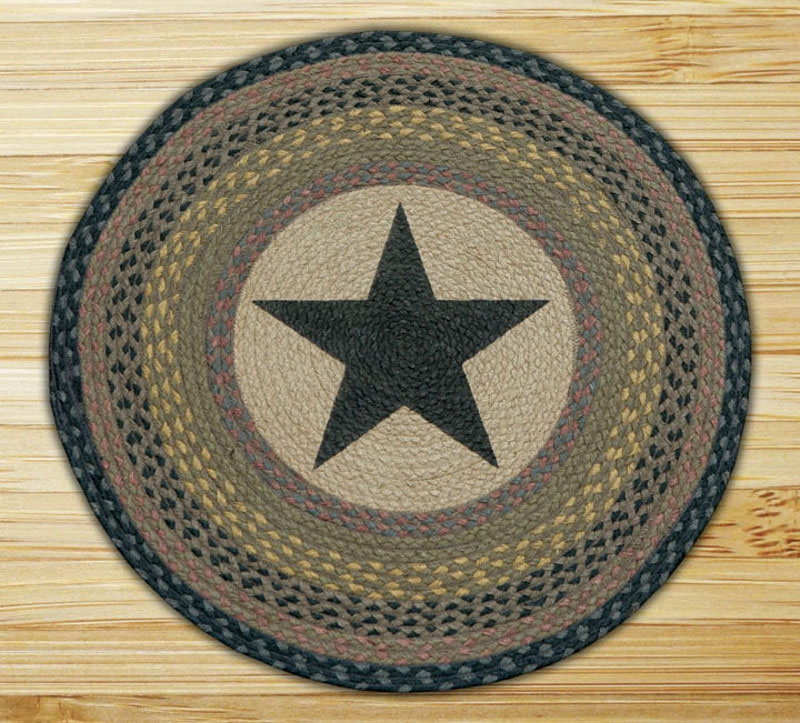 Star Round Braided Jute Rug, By Capitol Earth Rugs.