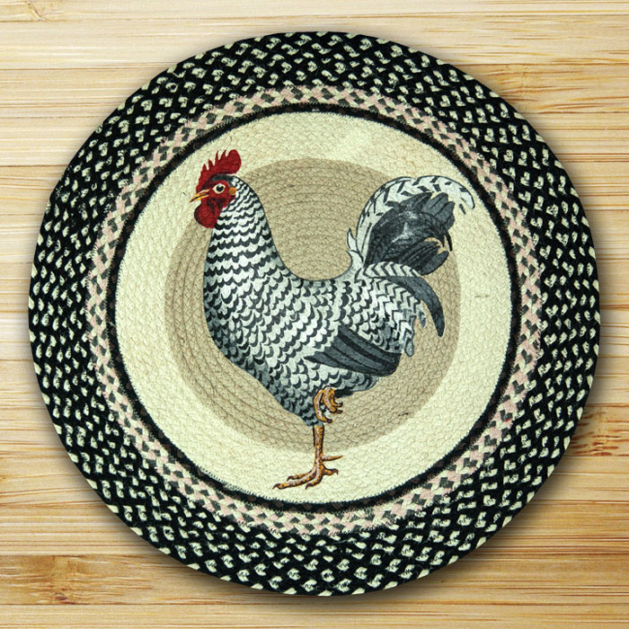 Throw Rug Cleaning Near Me: Rooster Braided Jute Rug, By Capitol Earth Rugs.