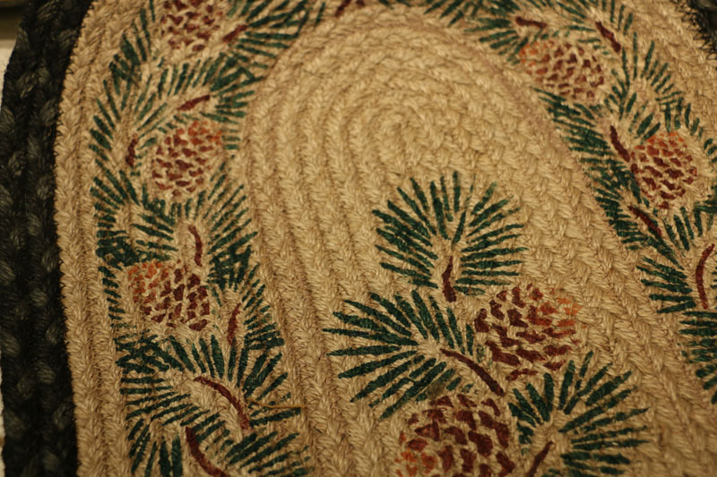 Pinecone Braided Jute Tablerunner, by Capitol Earth Rugs