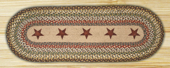 48 inch Gold Star Braided Table Runner, by Capitol Earth Rugs