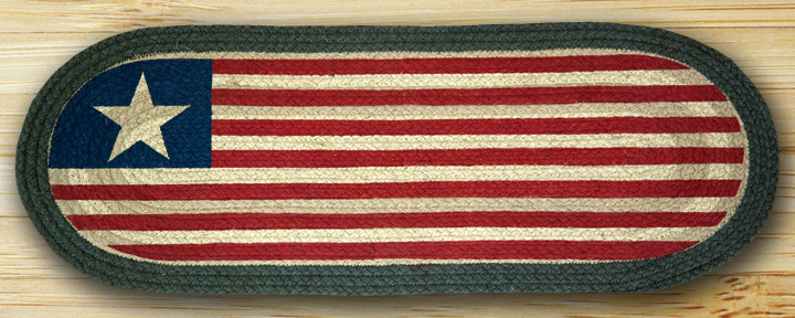 Original Flag Braided Jute 48 inch Table Runner, by Capitol Earth Rugs