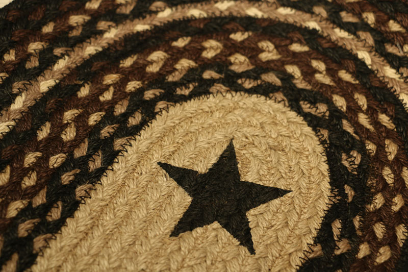 Black Star Braided Jute Tablerunner, By Capitol Earth Rugs.