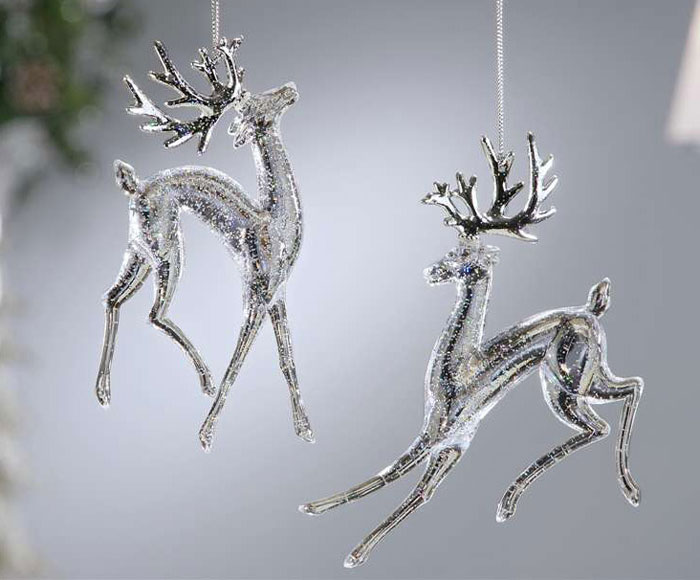 Clear Reindeer Ornament, by Giftcraft