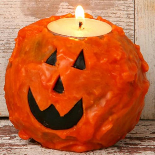 Pumpkin Face Ball Candle with Tealight, from Your Heart\'s Delight by Audrey\'s