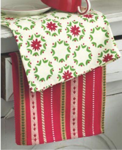 Poinsettia Dishtowel, by Tag