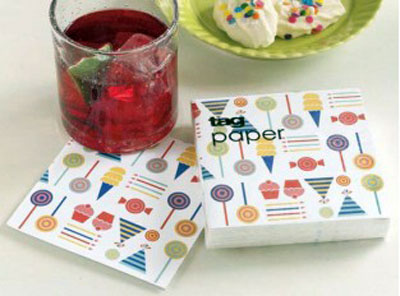 Party Paper Cocktail Napkins, by Tag