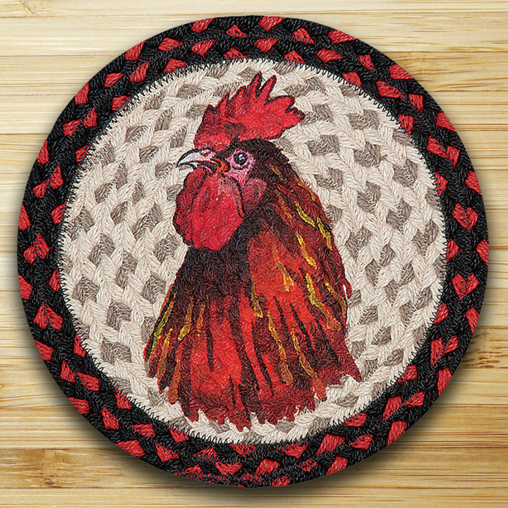Rooster Braided Tablemat By Capitol Earth Rugs The Weed Patch