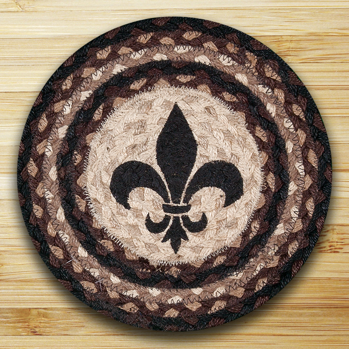 Fleur De Lis Braided Tablemat By Capitol Earth Rugs