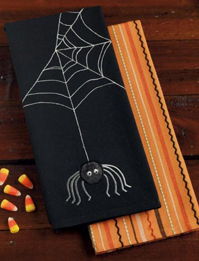 Spooky Spider Dishtowel, by DII