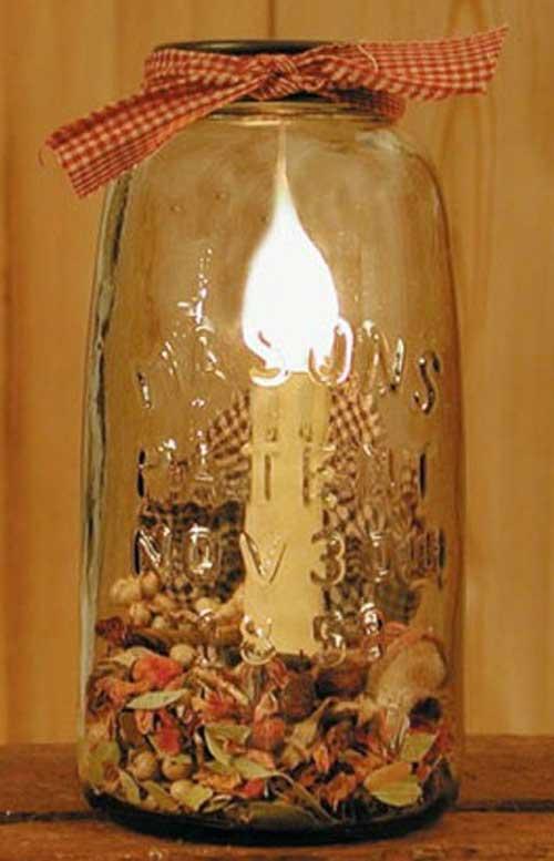 Mason Jar Lamp - Half Gallon