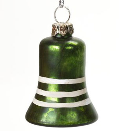 Green Vintage Mercury Bell Ornament, by Ragon House Collection