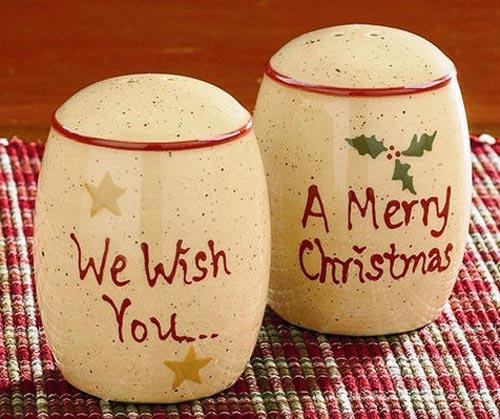 Holiday Sentiments Dinnerware - Salt & Pepper Shakers