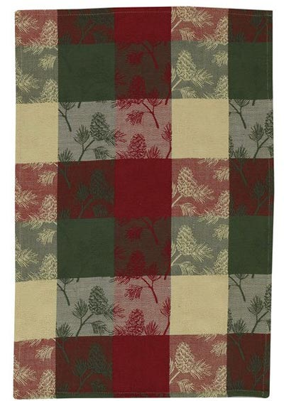 Holiday Pinecone Dishtowel, by Park Designs