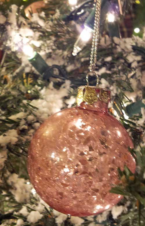Pink Broken Glass Ornament, by Ragon House