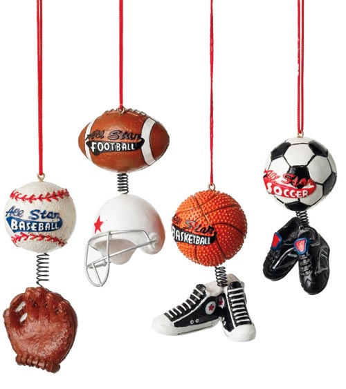 All Star Sports Ornament, by Seasons of Cannon Falls