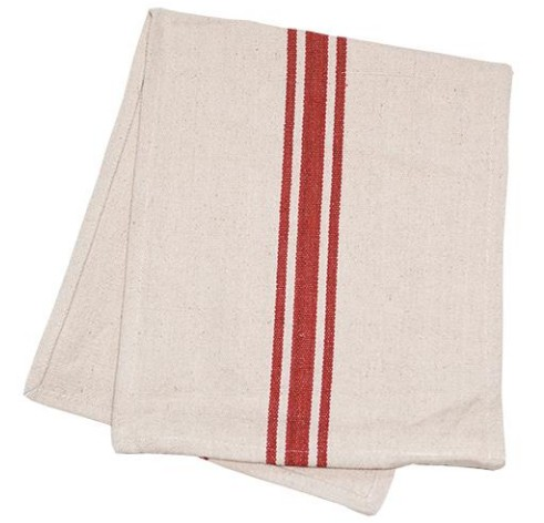 Cream with Red Stripe Table Runner