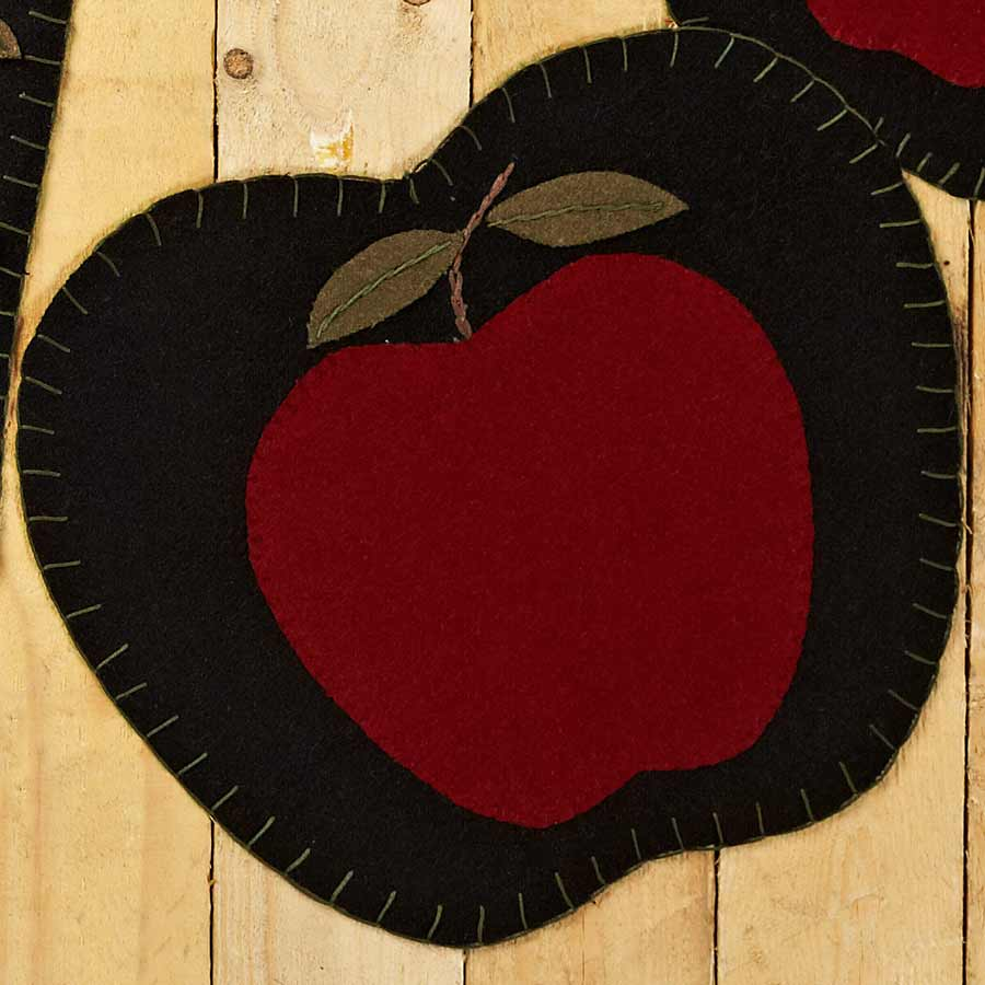 Handmade table mats design - Apple Shaped Placemats Set Of 6