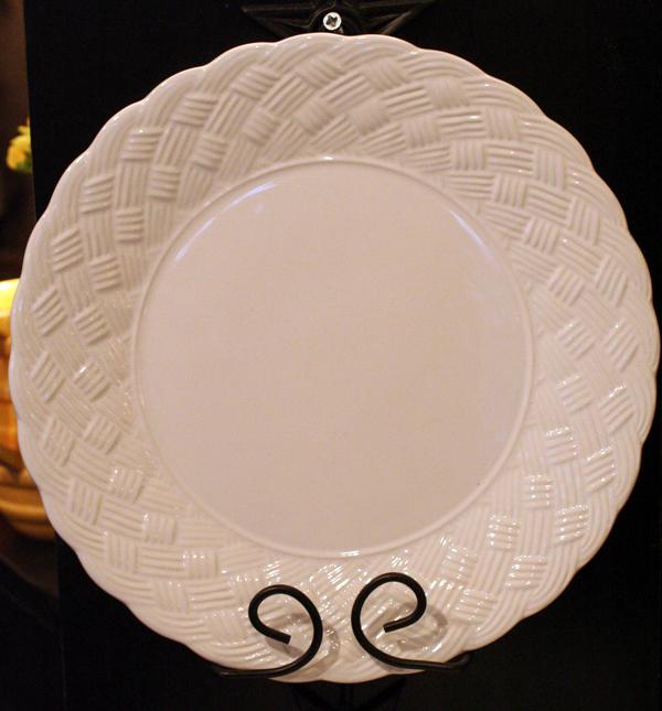 Basketweave Dinnerware - Dinner Plate, by Park Designs