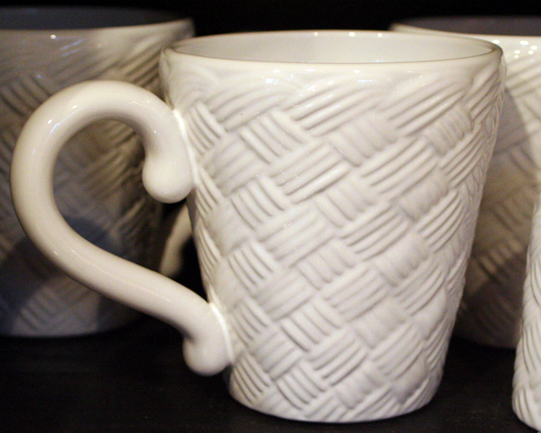 Basketweave Dinnerware - Mug, by Park Designs