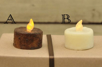 Burnt Mustard Battery Tealight, by Hearthside