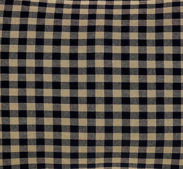 Black Check Prairie Curtain
