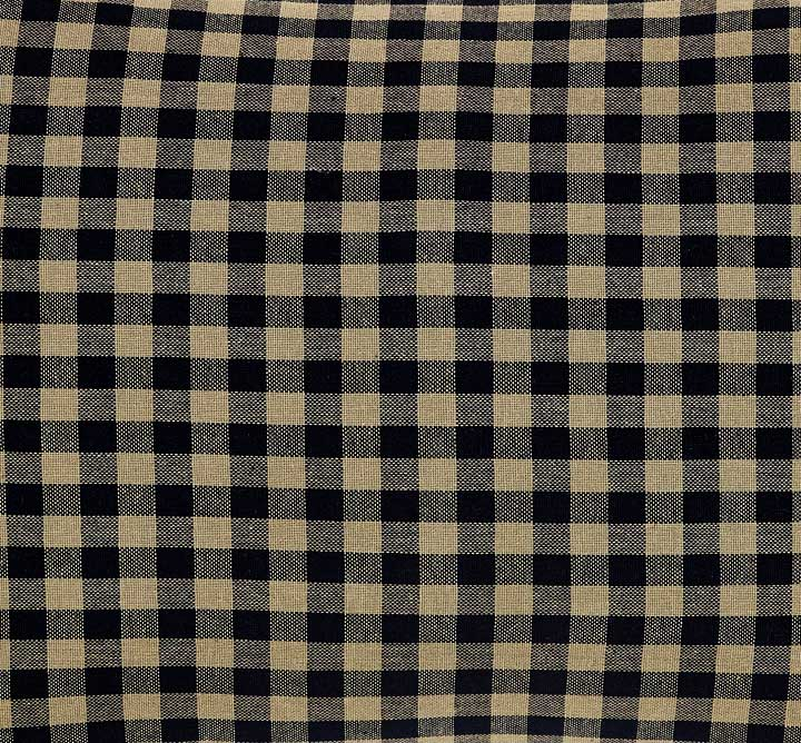 Black Check Fabric
