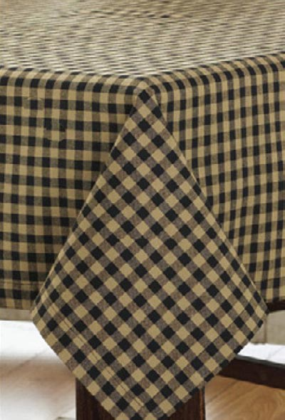 Black Check Tablecloth, by Victorian Heart