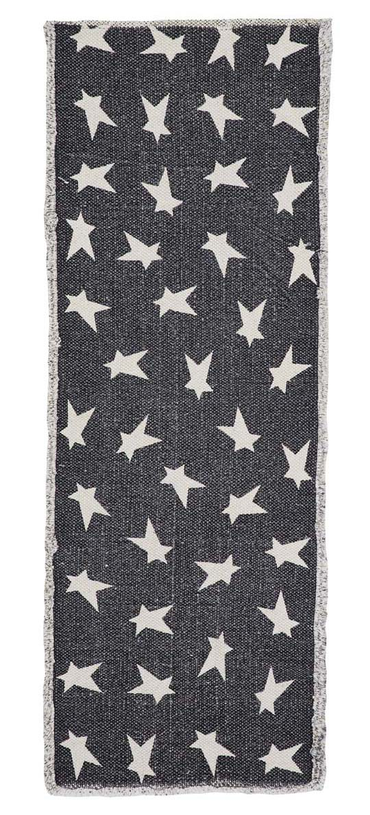 Black Primitive Star 36 inch Tablerunner, by Nancy's Nook.